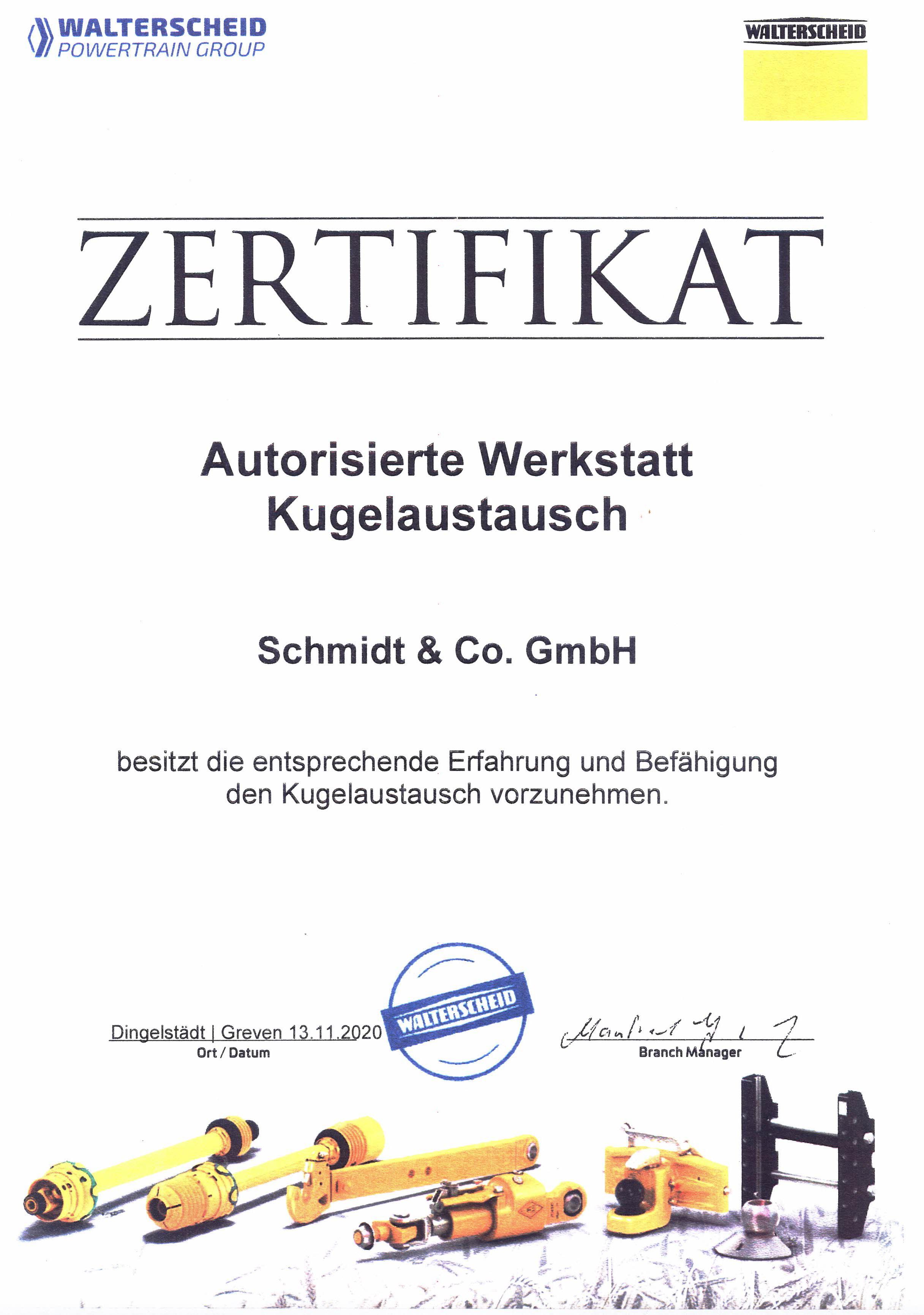 Zertifikat Walterscheid
